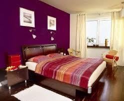 Red, purple, orange and gold bedroom.