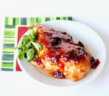 chicken with orange and cranberry sauce