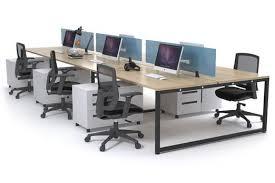 office desk workstation. Litewall Evolve - A Modern Office Workstation Desk For 6 People [1200L  X 800W] Office Desk Workstation T