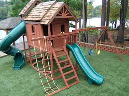 Private Residences Artificial Surfacing Home Playground Artificial Surfacing