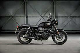 all new triumph bonneville bobber t100 street cup behind the moto