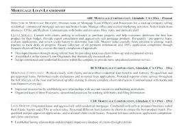 Sample Resume For Loan Officer Sample Resume For Mortgage Loan