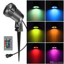 Rgb Led Landscape Lighting 2019 Aucd Remote Mini 6w Rgb Led Lawn Lamps Outdoor Ip65 Waterproof Spotlight Lighting Bulbs Garden Landscape Light Go L01 Rgb From Aucapost 6 92