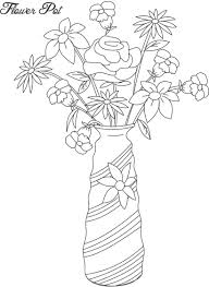Small Picture Flower pot coloring printable page for kids 12