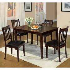 Venetian Worldwide West Creek I 5 Piece Espresso Dining Set Espresso Colored Dining Chairs