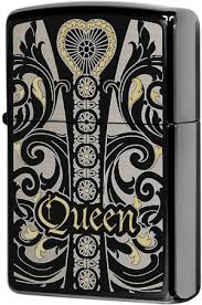 28797 <b>Зажигалка Zippo</b> Fit for a <b>Queen</b>, Black Ice