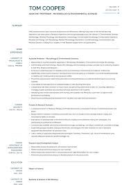 Assistant Professor Resume Samples And Templates Visualcv