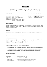 Resume Career Objective Information Technology New Resume Action