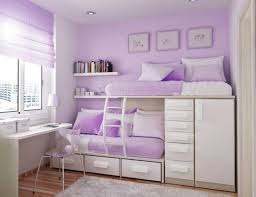 teenage girl bed furniture. Stylish Bunk Bed With Purple Wall Color And Sleek Modern Desk For Cute Teenage Girl Bedroom Furniture D
