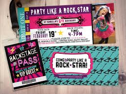 rock star concert ticket birthday party invitation music invitation printable rockstar party 🔎zoom