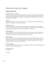 Sample Cover Letter Monster Best Job Referral Email Template Free Sample Cover Letter