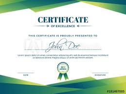 Certificate Of Appreciation Award Template With Green Shapes