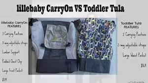 Toddler Lillebaby Carryon Vs Toddler Tula