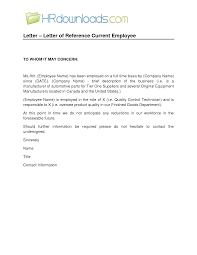 Samples Of Reference Letter For Employment Free Letters Templates