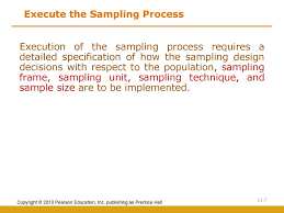 The Sampling Design Process Sampling Design And Procedures Ppt Download