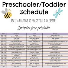 Toddler Routine Chart Toddler And Preschooler Daily Schedule Tales Of Beauty For