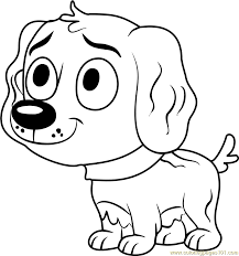 pound puppies vanilli coloring page pound