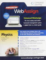 enhanced webassign college physics access card one term enhanced webassign college physics access card one term 9781285858418 com books