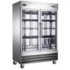 two glass door commercial refrigerator in