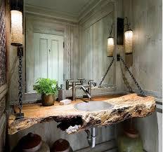 Driftwood Bathroom Vanity Wood Log As Bathroom Sink Rustic Wood Big Sur And Vanities