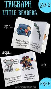 Teach your child to read by exposing them to word families. Free Trigraphs Reading Spr Squ Str Words