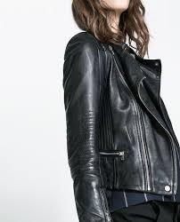 zara biker jacket with zips zippers zip stud