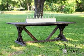 diy outdoor farmhouse table. Cozy Ideas Farmhouse Table Plans Shanty Chic 10 DIY Dining For Only 65 Diy Outdoor