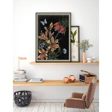 26 in x 20 in dark floral ii by naomi mccavitt fine on wall art prints framed with 26 in x 20 in dark floral ii by naomi mccavitt fine art paper
