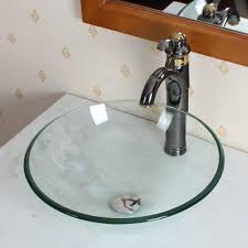 clear vessel sink. Plain Clear Inello Clear Tempered Glass Vessel Sink And T