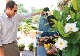 staff members share healthy meals prepared on saber grills the main bbq brand sold at
