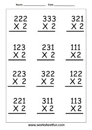 2 Digit Multiplication Worksheets Printable - Criabooks : Criabooks