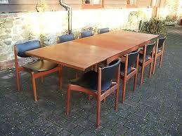 danish france son finn juhl teak retro 1960 70 s dining table and 8 chairs