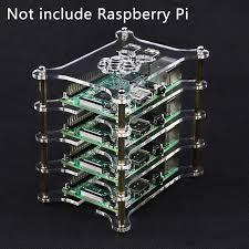 For Raspberry Pi 4 Case <b>Transparent Acrylic Case</b> Clear Box Shell ...