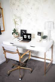ikea office decor. Blogger Office, White And Gold Home Decor, Desk Ikea Office Decor