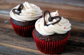 chocolate cupcake with cream cheese frosting. Exellent Cheese Small Batch Cream Cheese Frosting And Chocolate Heart Decorations For  Cupcakes To Cupcake With