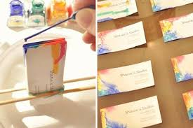 tie dye business cards 15 diy business cards to network with