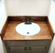 Diy Wood Bathroom Countertop An Easy Way To Change Your Vanity In 1 Weekend Noting Grace