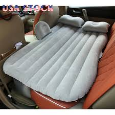 Back Seat Bed Inflatable Flocking Car Bed Back Seat Air Mattress Travel Camping