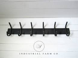 3 Hook Wall Mounted Coat Rack Wall Mounted Coat Rack with Hooks Steel Farmhouse Coat Rack in 100 10