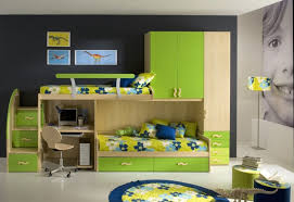 amazing kids room design ideas presenting green painted wooden bunk bed with small space computer desk amazing kids bedroom ideas calm