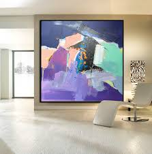hand made large acrylic painting on canvas abstract painting canvas art large wall art