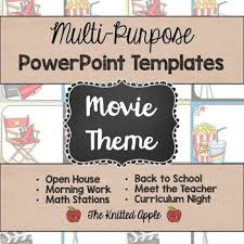 Movie Powerpoint Template Movie Theme Powerpoint Templates