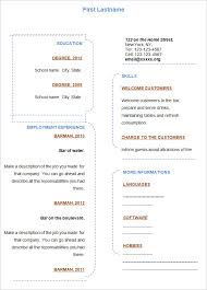 Blank Resume Templates Stunning Free Blank Resume Templates For