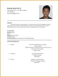 Resume For Job Application Example Format Of Resume For Job Application Job Application Resume Template 18