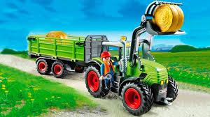Tracteur Et Camion Sur La Ferme Pour Les Enfants Dessin Anim