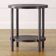 astonishing round end tables in table driftwood brown alaterre furniture target