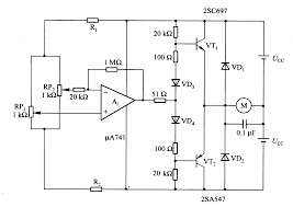 dc motor servo circuit composed of μa741 basic circuit circuit dc motor servo circuit composed of μa741