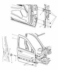 2014 dodge durango front door shell hinges diagram i2302850