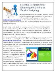 Professional Web Design Techniques