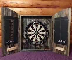 Dart Board Cabinet With Chalkboard Dartboard Cabinet From Pallets 7 Steps With Pictures
